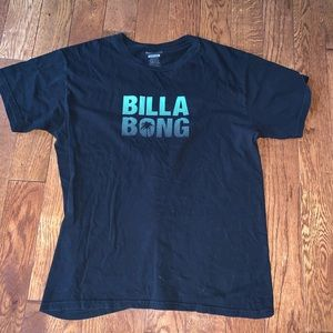 BillaBong Black and Green Tee